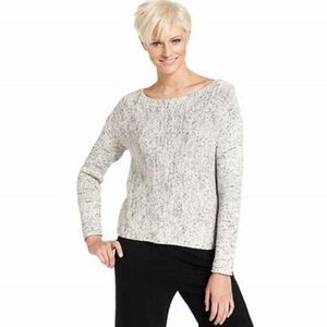 Eileen Fisher Marled Grey Sweater Sz Med